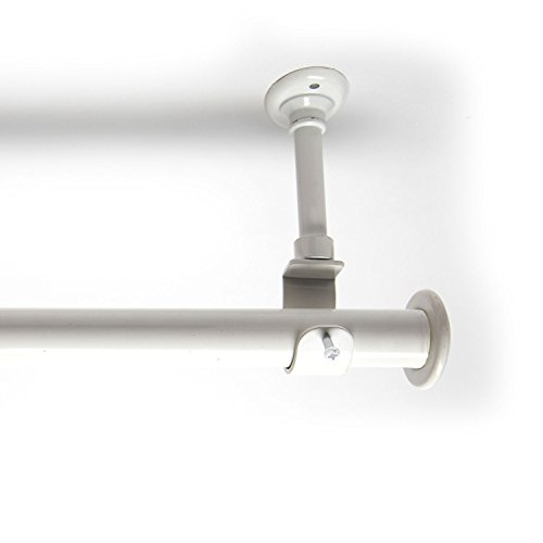 Room/Dividers/Now 56in-108in Hanging Curtain Rod With Brackets, White