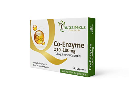 Co Enzyme Q10 100mg, 30 Capsules Highly Absorbable CoQ10 Ubiquinone by Nutranexus