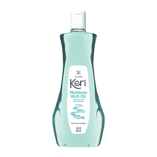 Keri Shower & Bath Moisture Rich Oil, Delicate, 16 Fl Oz