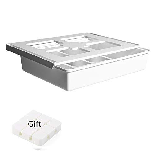 Shinepine Pop-Up Schreibtisch Organizer, Selbstklebende Schublade Stationery aus Kunststoff, Unterbau Schublade für Schreibwaren, Unter dem Schreibtisch Bleistiftablage Stifthalter