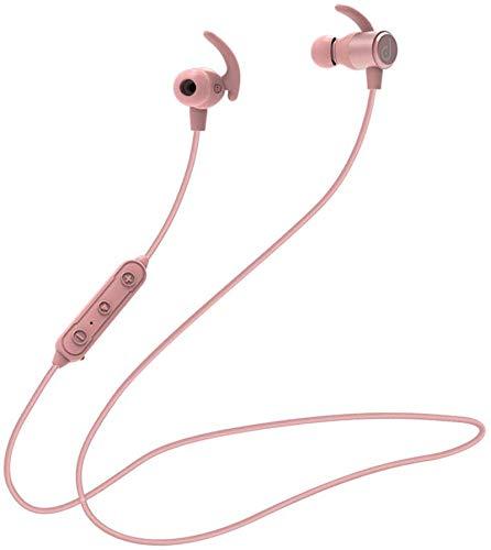 Bluetooth Kopfhörer in Ear dyplay Bluetooth 5.0 Sportkopfhörer aptX HD Audio CVC8.0 Noise Cancellation Mikrofon IPX5 Wasserdicht 13 Std Spielzeit Magnetisch Clip für iPhone Android uws (Rosa)
