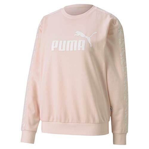 PUMA Damen Training Amplified Crew Sweatshirt-Apricot, Weiß Shirts, L