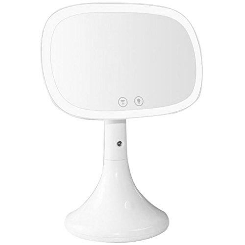 Miroir De Maquillage D'écran Tactile De LED, Vaporisateur Hydratant Rechargeable Vanity Mirror Lampe De Bureau Table D'écran Tactile Miroir Cosmétique,White