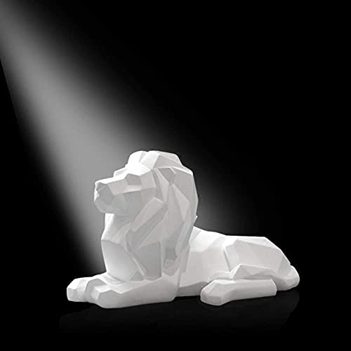 Estatuas Escultura Figuras Estatuillas, GeometríA Blanco Origami DiseñO De LeóN Animales Figuras Arte Vintage ArtesaníAs Creativas Estatuas Para El Hogar JardíN Pasillo Estatuillas DecoracióN Adornos