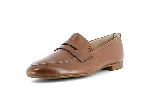 Paul Green Damen SlipperMokassins 2593, Frauen Slipper, feminin elegant Women's Woman Business geschäftsreise geschäftlich,Nougat,39 EU / 6 UK