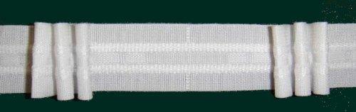 Ruther & Einenkel Faltenband mit 3 Falten, 26 mm, weiß, 200% / Aufmachung 10 m