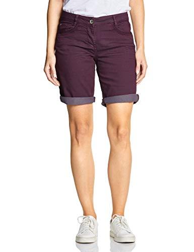 Cecil Damen 372198 New York Loose Fit Shorts, deep Berry, W34(Herstellergröße:34)