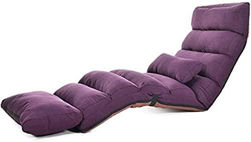 Sillas Tumbona de jardín Reposeras Plegable Plegable Sofá 5 Archivo de Ajuste Descanso for Comer salón de Lazy Piso Dormitorio reclinable Desmontable Limpieza 80.7 × 21.3 Pulgadas (Color