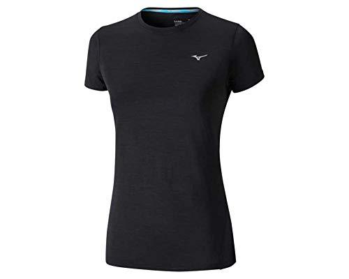Mizuno Damen Impulse Core Unterhemd, Black, XS