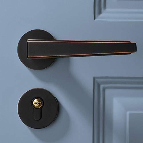 LCBLC Deur Hardware en Sloten Home Decoratie Interieur Slaapkamer Deur Lock Eenvoudige Deur Lock Goud Thuis Mute Links en Rechts Open Zwart