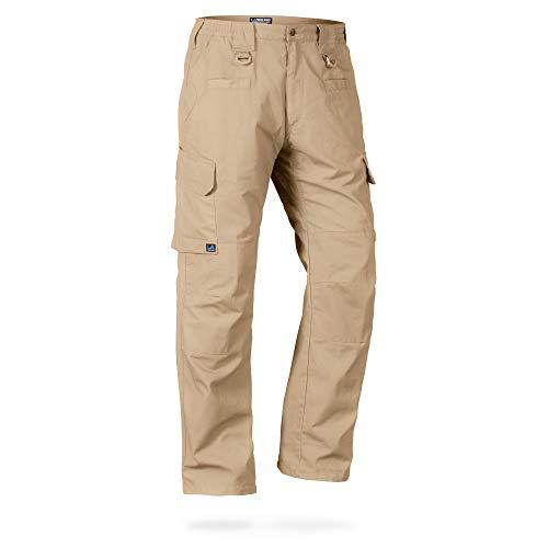 La Policía Gear Operador táctica Pantalones con Cintura elástica - Beige -