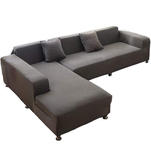 MKMKL Funda de sofá modular de alta elasticidad, resistente a la suciedad, funda de sofá completa, a prueba de polvo, color gris, XL