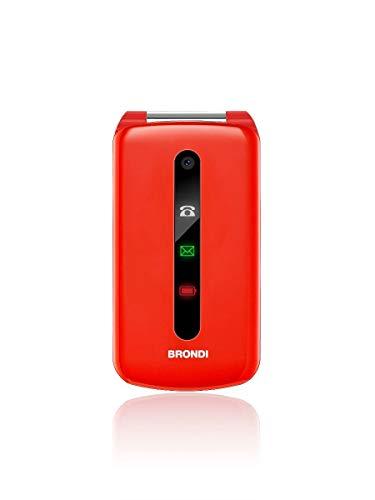 Brondi President 7,62 cm (3') 130 g Rojo Característica del teléfono - Teléfono móvil (Concha, SIM Doble, 7,62 cm (3'), 1,3 MP, 800 mAh, Rojo)