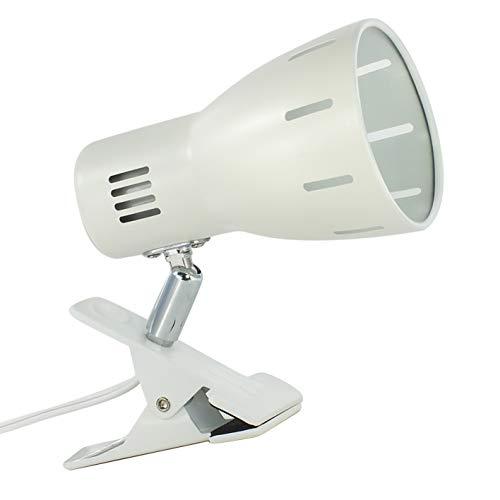 クリップライト E26口金 中間スイッチで入切可能 電球なし LED対応 お部屋 寝室 店舗 ディスプレイライト 一年保証 白い 1個セット(Uplight)