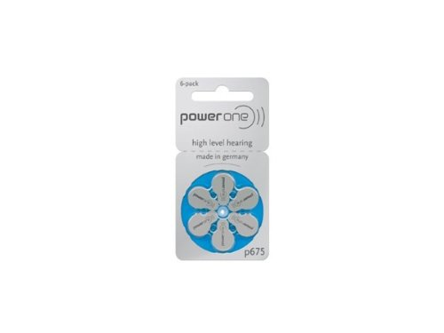 Power One Pack de 6 Pilas de Pilas P675 (Azul), 1,45 V,