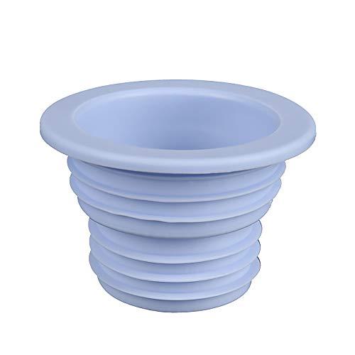Water Trap Cover Deodorant riool Seal Ring, Zachte spiraal Deodorant Siliconen Ring Machine Sealing Plug voor Wasmachine, Badkamer, Badkuip, Keuken (Blauw) Eén maat Blauw