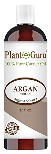 Argan Oil 16 oz Morocco Virgin, Cold Pressed 100% Pure Natural Carrier - Skin, Scalp, Face, Body, Eyebrows, Eyelashes, Hair Growth Moisturizer, Heat Protection. Great for Creams, Lotions, Lip Balm