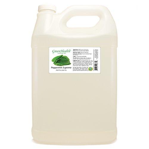 1 Gallon - Peppermint Essential Oil (Mentha Piperita) - 100% Pure & Uncut - Plastic Jug - GreenHealth