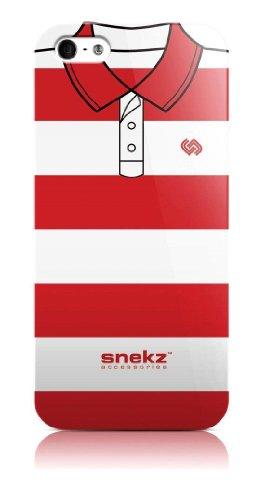 Snekz glanzende beschermhoes voor iPhone 5/5S, motief Polo, Rojo y blanco