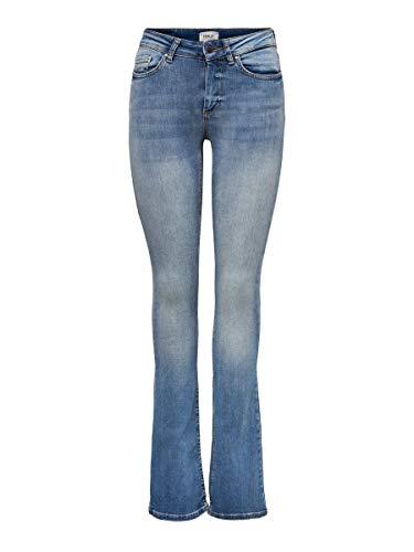 ONLY Damen Flared Jeans ONLBlush Mid XS30Light Blue Denim