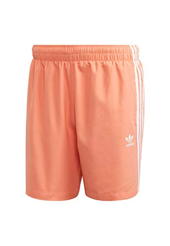 adidas Originals Badeshorts Herren 3 Stipe Swims FM9877 Orange, Größe:M