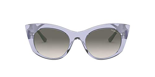 Vogue Eyewear Women's VO5312S Cat Eye Sunglasses, Transparent Lilac/Grey Gradient, 50 mm