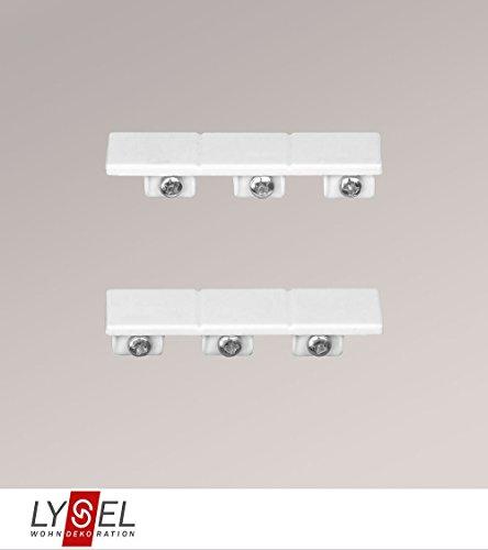 LYSEL® Schiebegardine Endstück für 3-läufige Schienen