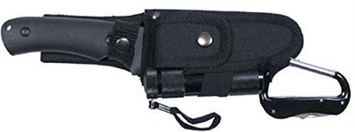 MFH Messerset, mit LED und Nylon-Scheide, schwarz