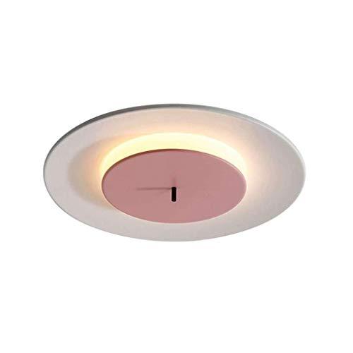 SPNEC Pantalla de Cristal de la lámpara de Techo, Dormitorio Moderno de la lámpara de la Personalidad Creativa Restaurante, Sala de Estar, Dormitorio, Cocina (Color : Pink)