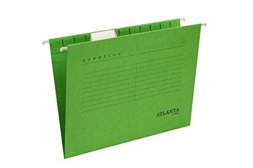 Jalema 2652742500 Euroflex - Cartellina sospesa, formato A4, 25 pezzi, colore: Verde