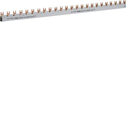 Hager KDN381B Phasenschiene 3P+H Gabel 1 6qmm 80A 39K