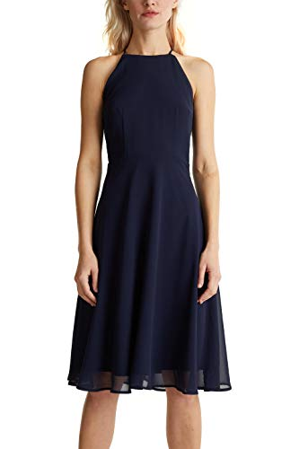 ESPRIT Collection Damen 040EO1E342 Kleid, 400/NAVY, 40