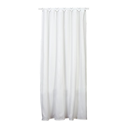 ZPC Zenith Products Corporation H20WW Zenna Home, Fabric Shower Curtain Liner, 70 In X 72 In, White