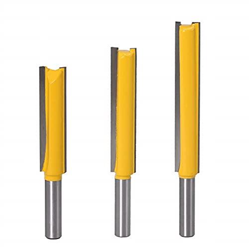 ExcInter 8mm Shank Long Straight Cutter Bit Woodworking 8 * 1/2 * 63 Long Flush Trim Router Bits 1Pcs Wood Cutting Tool