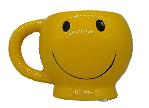 Yellow Smiley Face Mug - Happy Face Coffee Mug Smiley Cup