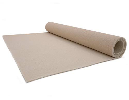 Primaflor - Ideen in Textil Hochzeits-Läufer Event-Teppich Meterware - 1,00m x 1,00m, Creme, B1, VIP Empfangsteppich, Gangläufer