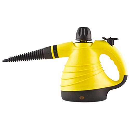 Limpiador a Vapor de Mano, 1050W Upgrade Limpiadora a Multiusos Alta presión y Alta Temperatura, 9-Piezas para la eliminación de Manchas, alfombras, Cortinas, Asientos de Coch