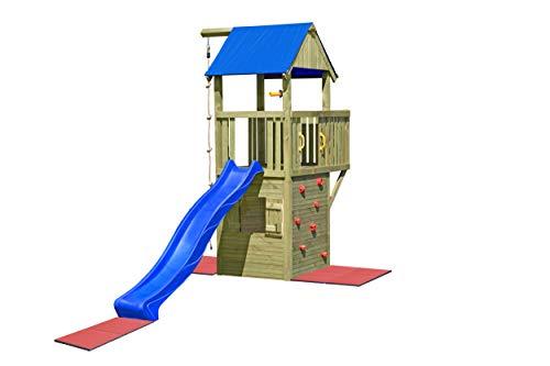 Gartenpirat Spielturm und Spielhaus Steuermann mit Balkon und Rutsche