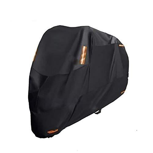 PDHZHJXB Fundas para Motos Cubierta de la Motocicleta Compatible con GILERA ADN Cubierta de la Motocicleta 125, 6 tamaños Negro 300D Oxford actualizarse Cubierta de la Motocicleta Impermeable
