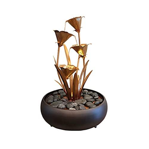 Cascada Zen Tabletop Fountain Indoor Tabletop Ornaments Relajación Cascadas para Office Comedor Decoración De Cocina Decoración