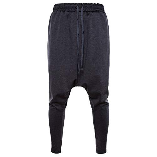 Pantalones Harem cónicos de Color sólido para Hombre, cómodos y Casuales, Ropa de Calle al Aire Libre, Pantalones Deportivos para Fitness M