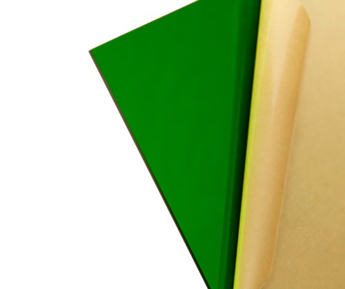 """Cast Acrylic Sheet - .118"""" Thick, TP Green, 12"""" x 12"""" Nominal"""