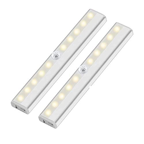 Uniquelove Lampada A Induzione Lampada Armadio A Batteria Lampada A LED per Guardaroba Luce Notturna Ricarica USB Luce Calda Lampada Sensore A Infrarossi per Il Corpo Umano - Colorata
