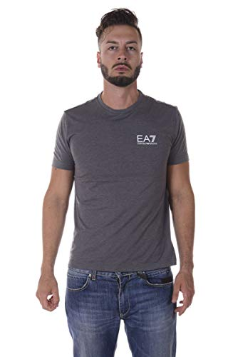 Ea7 Train Core Id Short Sleeved Crew T-shirt MEDIUM LIGHT GREY