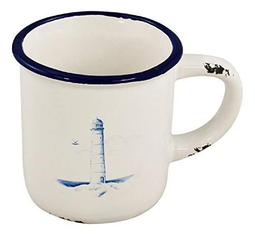 linoows Kaffee-Becher, Kaffepott, Tasse, Henkelbecher mit Leuchtturm im Maritim Stil