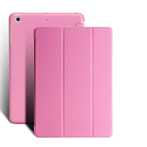 QiuKui Tab Cover For iPad 9.7 2018 6th Generation, PU Leather Ultra Slim Smart Cover TPU soft shell For iPad 2017 5th A1822 (Color : Pink)
