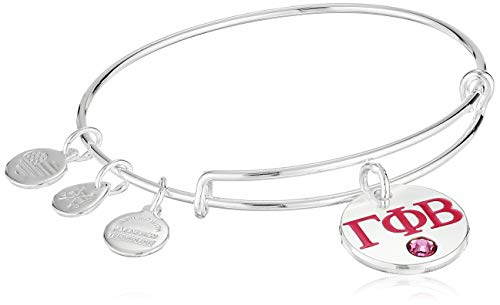 Alex and Ani Women's Color Infusion Gamma Phi Beta II EWB Bracelet, Shiny Silver