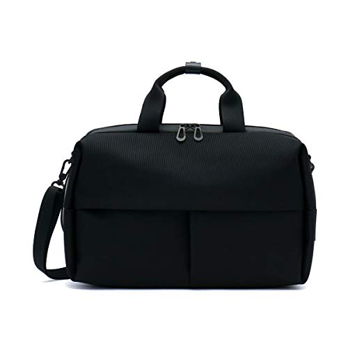 Cote & Ciel Men's Garonne Briefcase, Black, One Size
