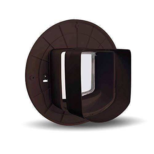 PetSafe Microchip - Extensión de túnel con Aleta para Gato, Paredes Gruesas y Puertas, fácil de Instalar, Color marrón