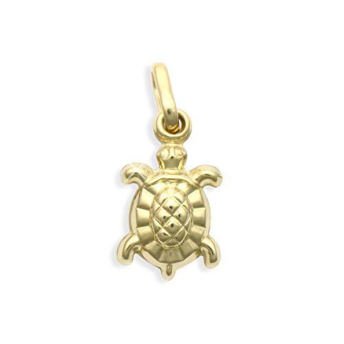 Kleiner Schildkröte Charms Anhänger 14 Karat Gold 585 (Art.206055)